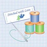 +EPS costurado com amor Imagem de Stock Royalty Free