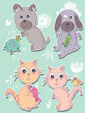 _eps de Cat Cute de chien Image libre de droits