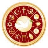 +EPS de Godsdiensten en de Duif van de wereld   Stock Foto
