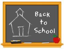 +EPS de nuevo a escuela en la pizarra Imagen de archivo