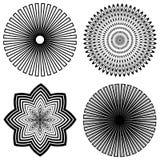 +EPS de Spiralen van het overzicht stock illustratie
