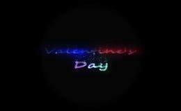 Eps-10 Dia do `s do Valentim ilustração das letras com as partículas do efeito sandstorm Imagens de Stock