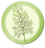 +EPS Dill-Ikone Lizenzfreies Stockfoto