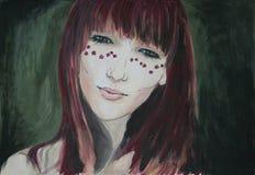 10 eps dziewczyny ilustracyjny wiosna wektor Zdjęcie Royalty Free