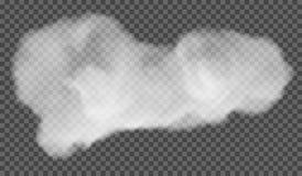 EPS 10 Efecto especial transparente de la niebla o del humo Nubosidad blanca del vector, niebla o fondo de la niebla con humo Ilu stock de ilustración
