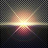 EPS10 Efeito da luz especial do alargamento da lente da luz solar transparente do vetor Imagem de Stock Royalty Free