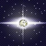 EPS10 Efeito da luz especial do alargamento da lente da luz solar transparente do vetor Fotografia de Stock