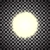 EPS10 Efeito da luz especial do alargamento da lente da luz solar transparente do vetor Imagens de Stock Royalty Free