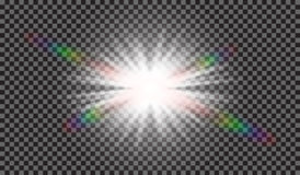 EPS10 Efeito da luz especial do alargamento da lente da luz solar transparente do vetor Fotos de Stock Royalty Free