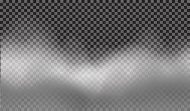 Eps 10 Efeito especial transparente da névoa ou do fumo Fundo branco da opacidade, da névoa ou da poluição atmosférica Ilustração Imagem de Stock