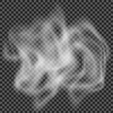 Eps 10 Efeito especial transparente da névoa ou do fumo Opacidade branca do vetor, névoa ou fundo da poluição atmosférica Ilustra Imagem de Stock Royalty Free