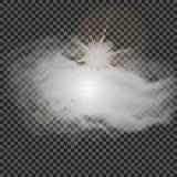 Eps 10 Efeito especial transparente da névoa ou do fumo Opacidade branca do vetor, névoa ou fundo da poluição atmosférica Ilustra Fotos de Stock