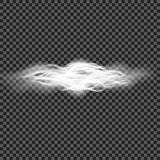 Eps 10 Efeito especial transparente da névoa ou do fumo Opacidade branca do vetor, névoa ou fundo da poluição atmosférica Ilustra Fotografia de Stock