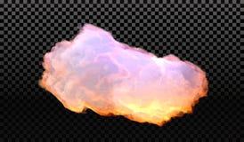 Eps 10 Efeito especial transparente da névoa ou do fumo Opacidade branca do vetor, névoa ou fundo da poluição atmosférica Ilustra Fotos de Stock Royalty Free
