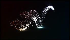 Eps 10 Estrela de queda efervescente do vetor Fuga de Stardust Onda de brilho cósmica Imagem de Stock Royalty Free