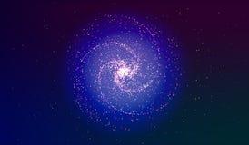 Eps 10 Explosão no espaço Uma galáxia de expansão Ilustração do vetor Foto de Stock