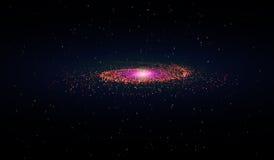 Eps 10 Explosão no espaço Uma galáxia de expansão Ilustração do vetor Imagens de Stock