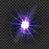Eps 10 Explosão no espaço Uma galáxia de expansão Ilustração do vetor Fundo transparente Imagens de Stock