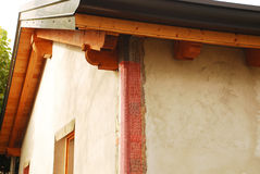 EPS Exterior Wall Insulation With Corner Mesh Stock Image