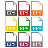 EPS file icons set. Simple vector icon Stock Photography