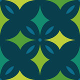 EPS10 file. Seamless floral geometric pattern. Vintage backgroun Stock Image