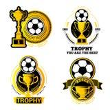 eps futbolowy formatów jpg logo Zdjęcie Royalty Free