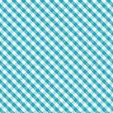 +EPS Gingham-Webart, Aqua, nahtloser Hintergrund Lizenzfreies Stockbild