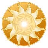 +EPS goldener Sun, goldene Platte Lizenzfreies Stockfoto