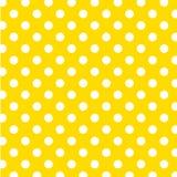 +EPS große weiße Polka-Punkte auf gelbem Hintergrund Lizenzfreie Stockfotografie