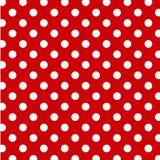 +EPS große weiße Polka-Punkte auf rotem Hintergrund Lizenzfreie Stockfotografie