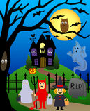 eps halloween vektor illustrationer