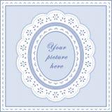 +EPS het Blauwe Ovale Frame van de baby, Naadloze Achtergrond