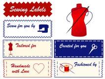 +EPS het naaien en het Maken Etiketten Stock Afbeelding