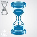 Eps8 hoog - kwaliteits dimensionale vector zand-glas illustratie Stock Afbeelding