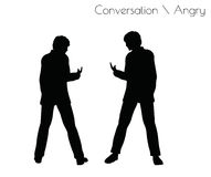 EPS 10  illustration of man in Conversation Angry pose on white background Royalty Free Stock Photography