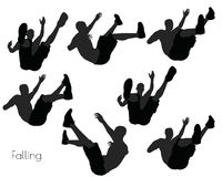 EPS 10  illustration of a man in Falling pose on white background Royalty Free Stock Photos
