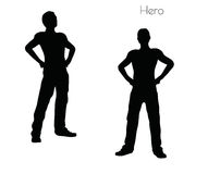 EPS 10  illustration of a man in Hero  pose on white background Royalty Free Stock Photo