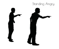 EPS 10  illustration of a man in Standing Angry  pose on white background Royalty Free Stock Photos
