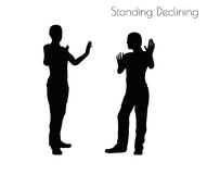 EPS 10  illustration of a man in Standing Declining  pose on white background Royalty Free Stock Images