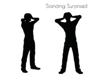 EPS 10  illustration of a man in Standing Surprised  pose on white background Royalty Free Stock Images