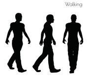 EPS 10  illustration of a man in Walking  pose on white background Stock Photos