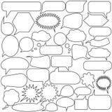 Σύνολο λεκτικών φυσαλίδων Κενές κενές διανυσματικές άσπρες λεκτικές φυσαλίδες Σχέδιο λέξης μπαλονιών κινούμενων σχεδίων απεικόνιση αποθεμάτων