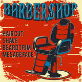 Barber shop poster illustration stock photo