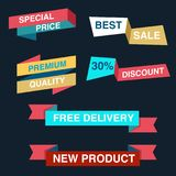 Discount tag with special offer sale sticker. EPS 10 and JPEG files Stock Photos