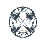 Firefighters vector emblem. EPS 10 and JPEG files Stock Photo