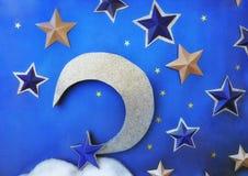 eps JPG月亮星形 库存图片
