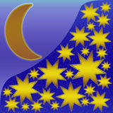 eps jpg αστέρια φεγγαριών Στοκ Εικόνες