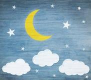 eps jpg księżycu, gwiazdach royalty ilustracja