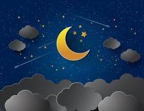 eps jpg księżycu, gwiazdach Fotografia Stock