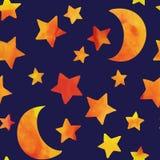 eps jpg księżycu, gwiazdach ilustracja wektor